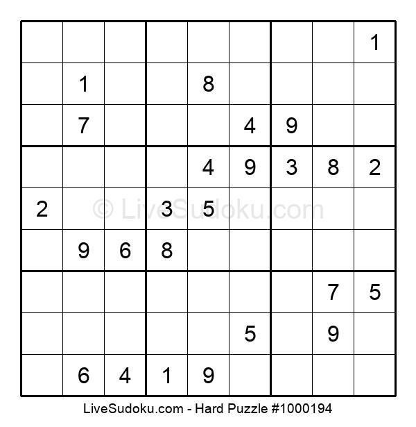 Hard Puzzle #1000194