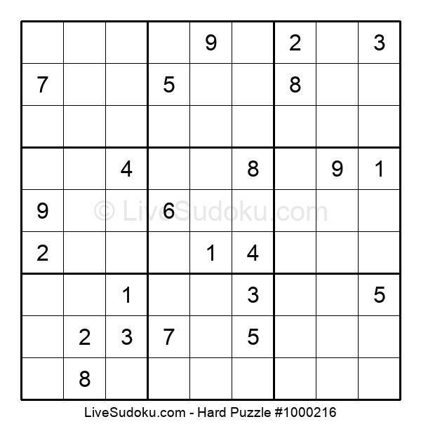 Hard Puzzle #1000216