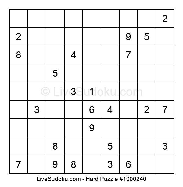 Hard Puzzle #1000240