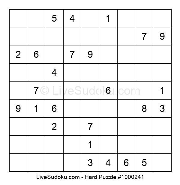 Hard Puzzle #1000241