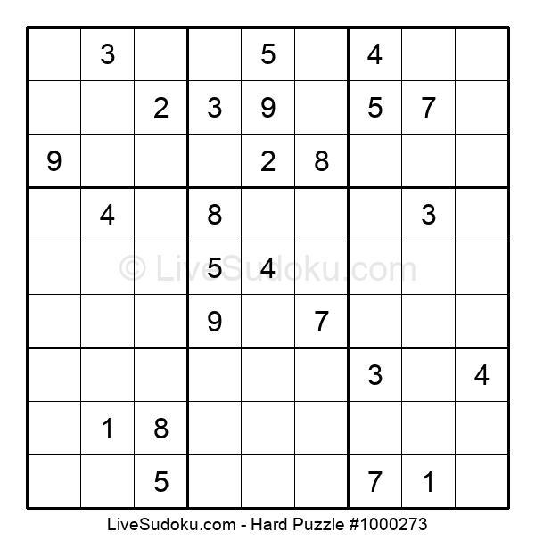 Hard Puzzle #1000273