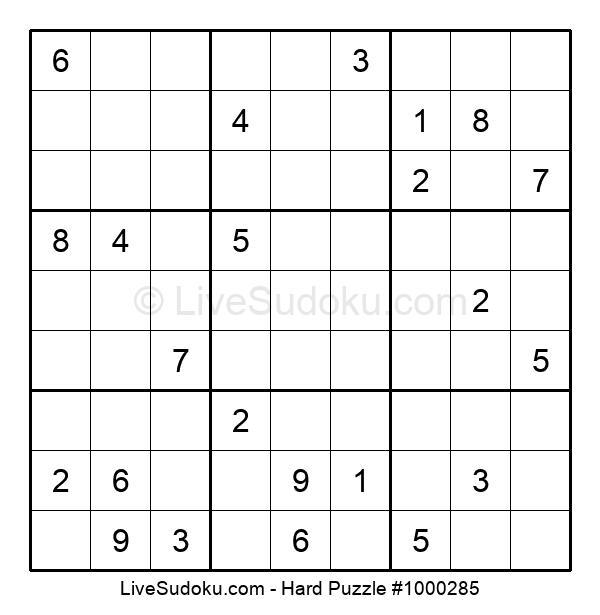 Hard Puzzle #1000285