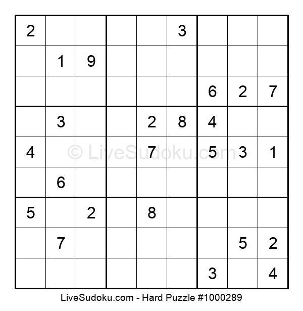 Hard Puzzle #1000289
