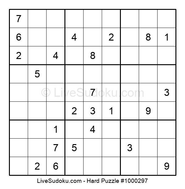 Hard Puzzle #1000297