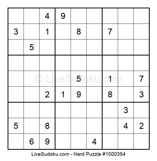 Hard Puzzle #1000354