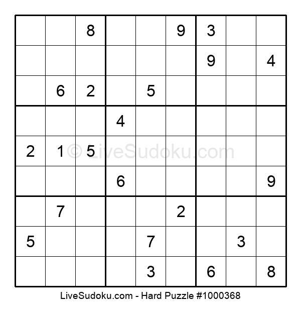 Hard Puzzle #1000368