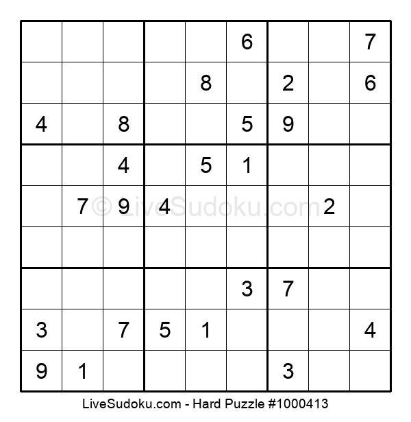 Hard Puzzle #1000413