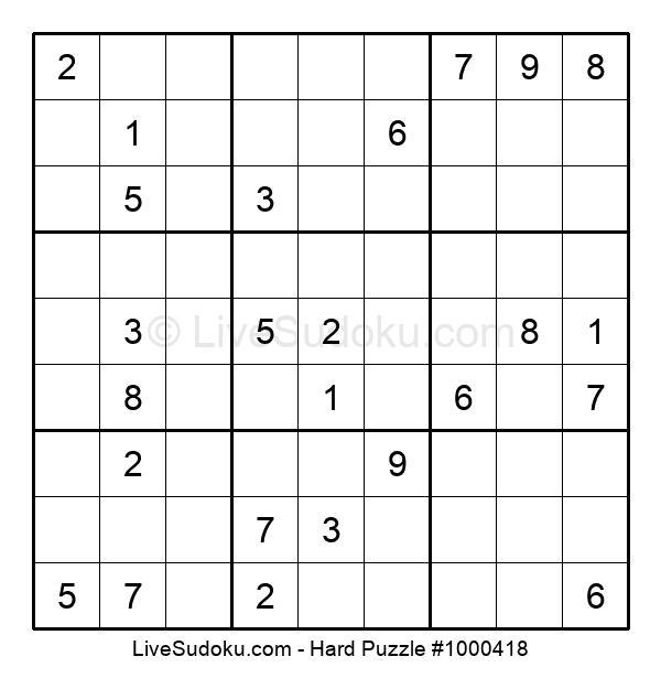 Hard Puzzle #1000418