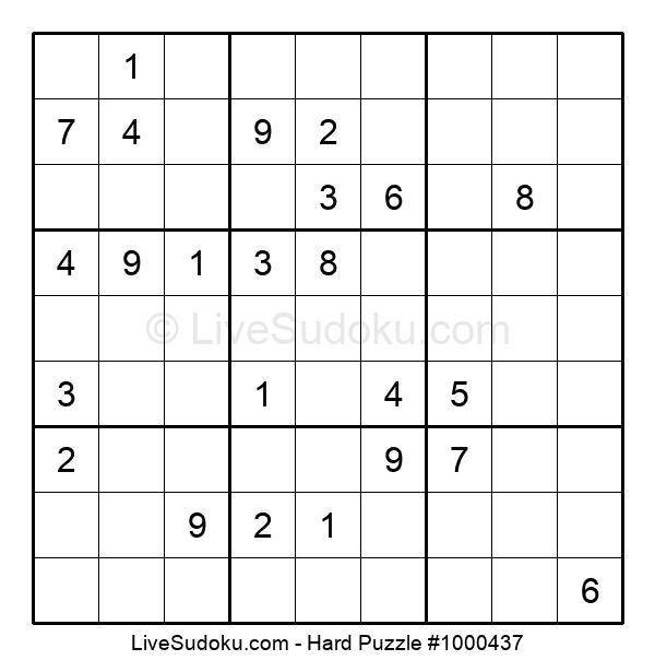 Hard Puzzle #1000437