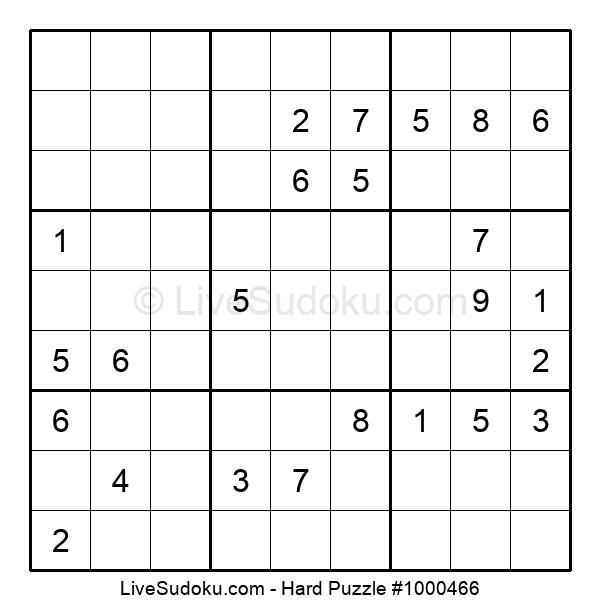 Hard Puzzle #1000466