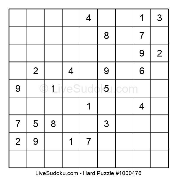Hard Puzzle #1000476