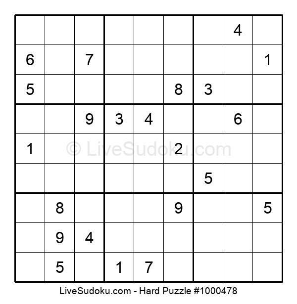 Hard Puzzle #1000478