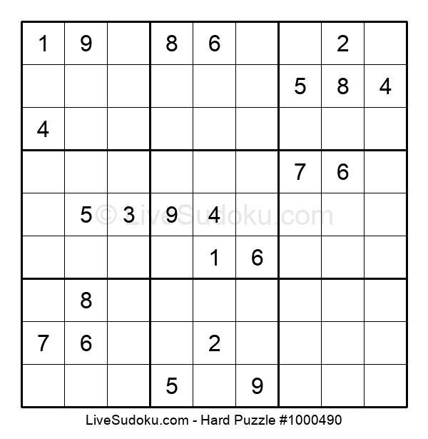 Hard Puzzle #1000490