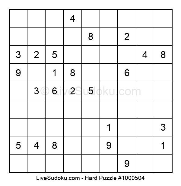 Hard Puzzle #1000504