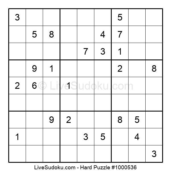 Hard Puzzle #1000536