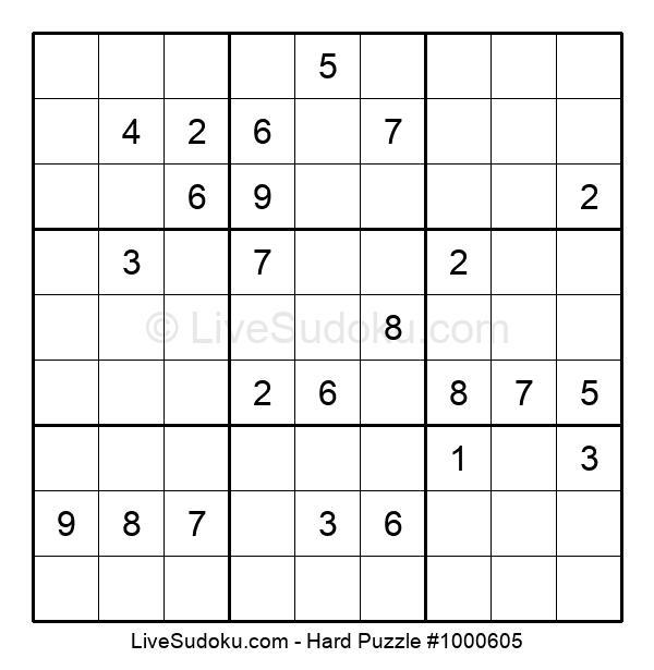 Hard Puzzle #1000605