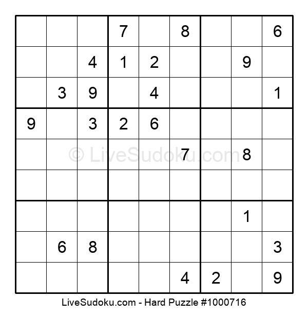 Hard Puzzle #1000716