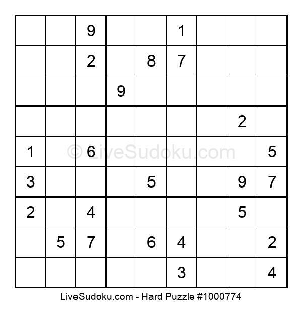 Hard Puzzle #1000774