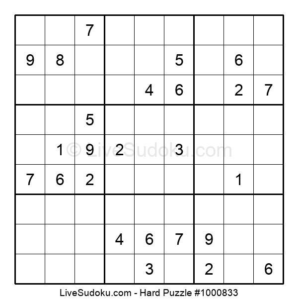Hard Puzzle #1000833