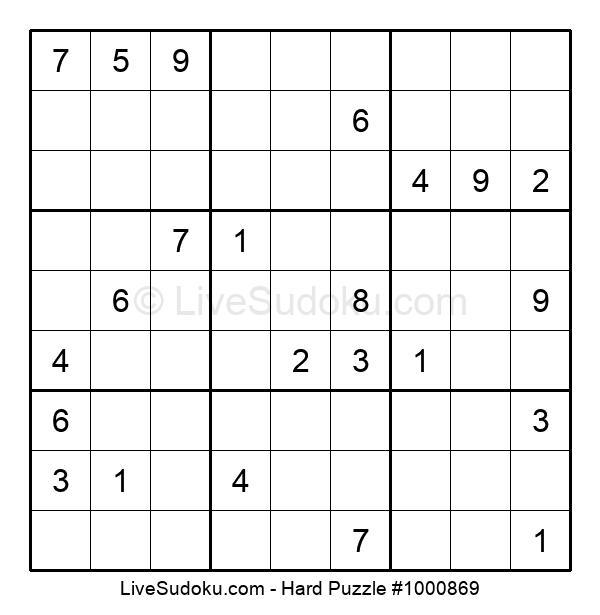 Hard Puzzle #1000869