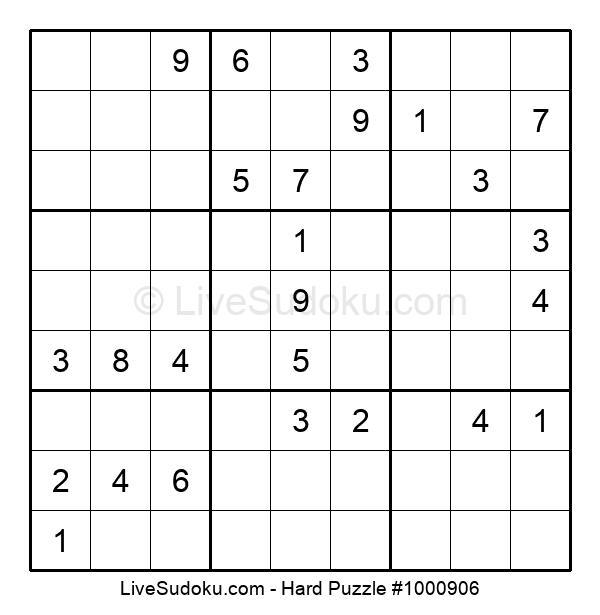 Hard Puzzle #1000906