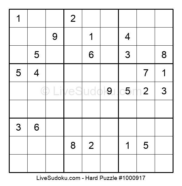 Hard Puzzle #1000917