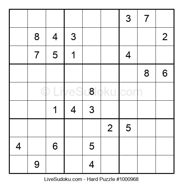 Hard Puzzle #1000968