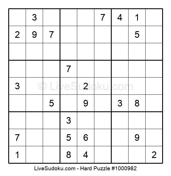 Hard Puzzle #1000982