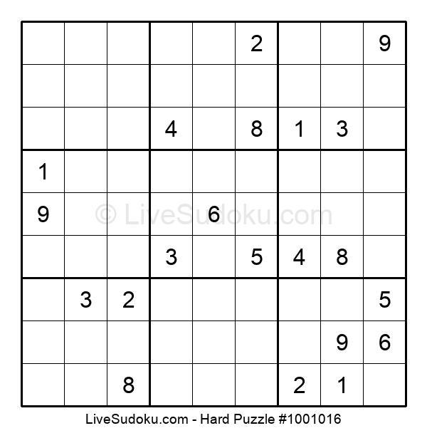 Hard Puzzle #1001016