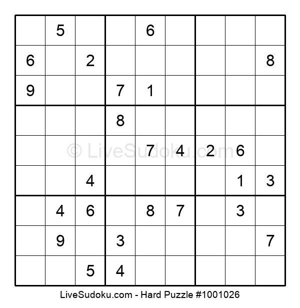 Hard Puzzle #1001026