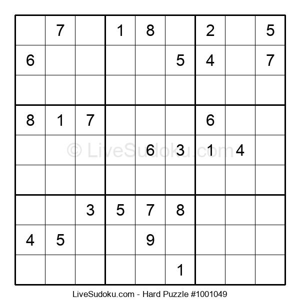 Hard Puzzle #1001049