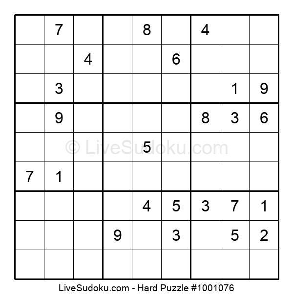 Hard Puzzle #1001076