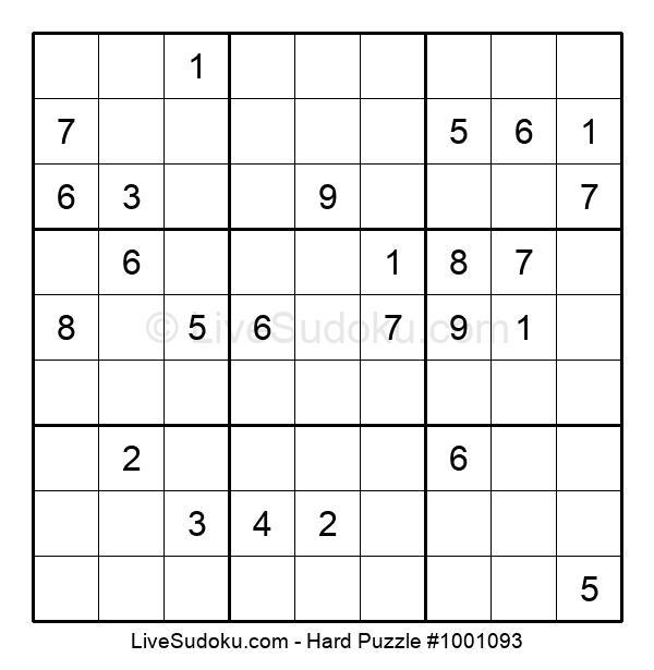 Hard Puzzle #1001093