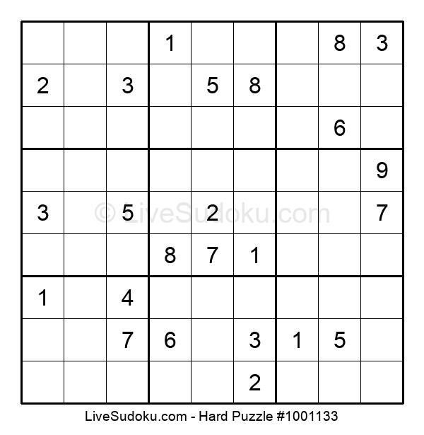 Hard Puzzle #1001133