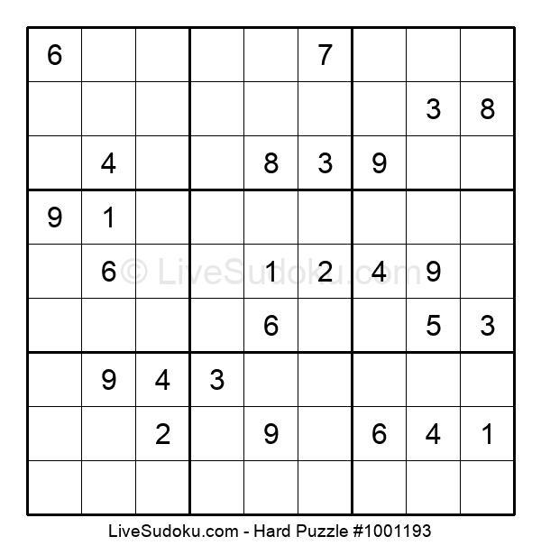 Hard Puzzle #1001193