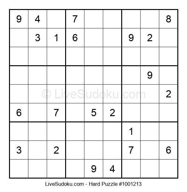 Hard Puzzle #1001213