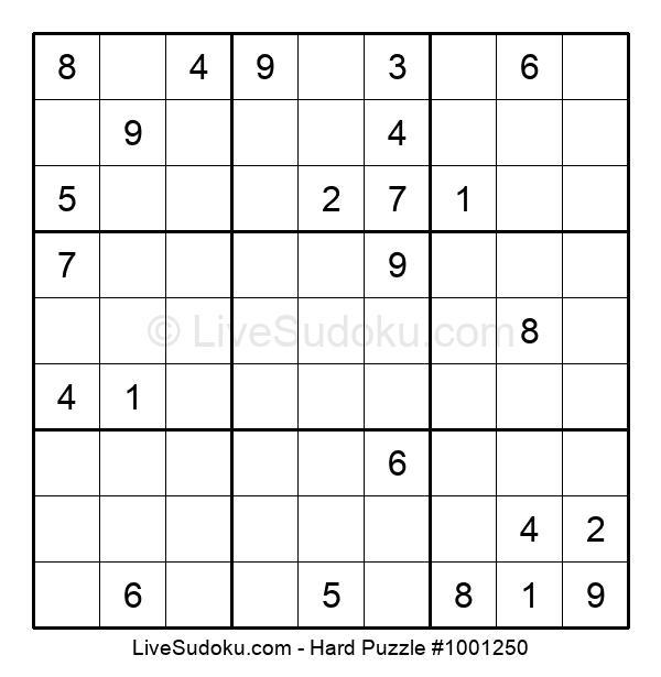Hard Puzzle #1001250