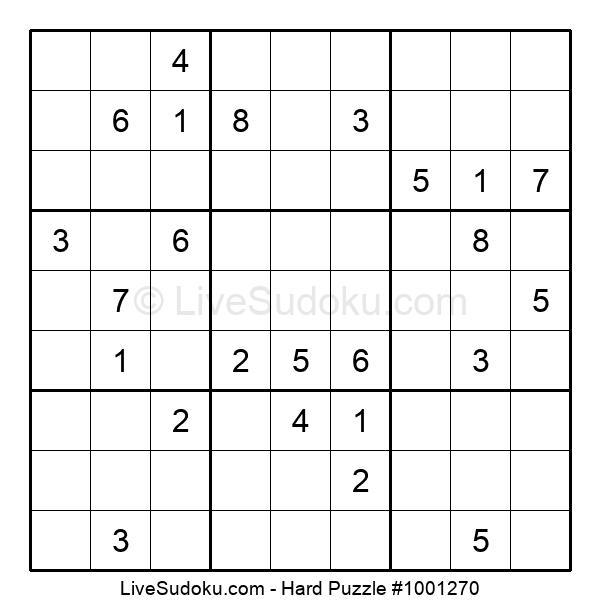 Hard Puzzle #1001270
