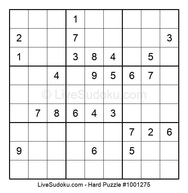 Hard Puzzle #1001275