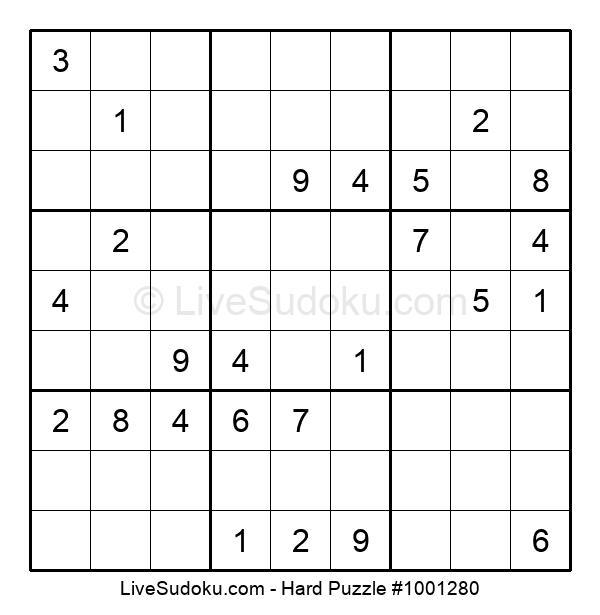 Hard Puzzle #1001280