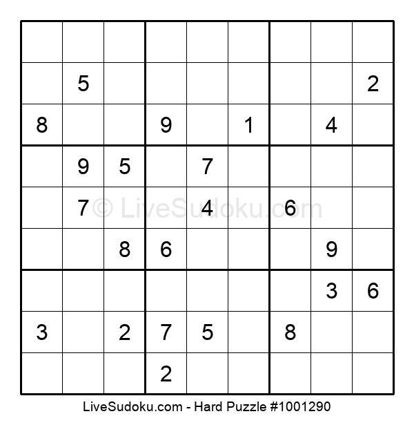 Hard Puzzle #1001290