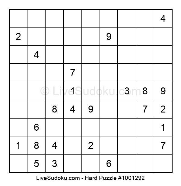 Hard Puzzle #1001292