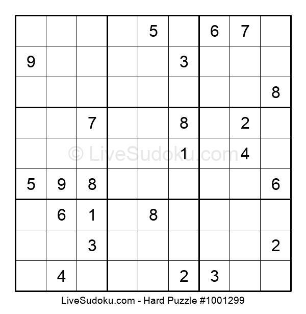 Hard Puzzle #1001299