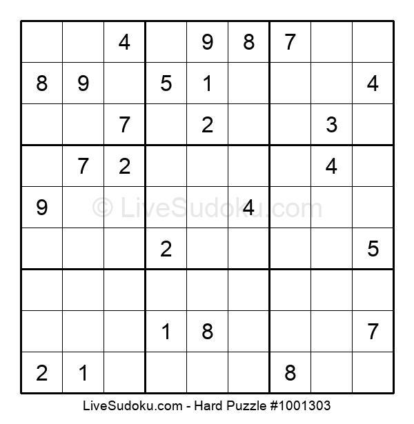 Hard Puzzle #1001303