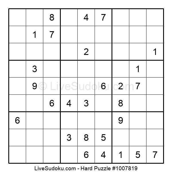 Hard Puzzle #1007819