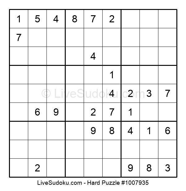 Hard Puzzle #1007935