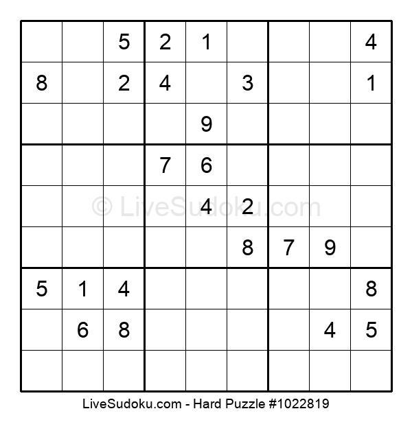 Hard Puzzle #1022819
