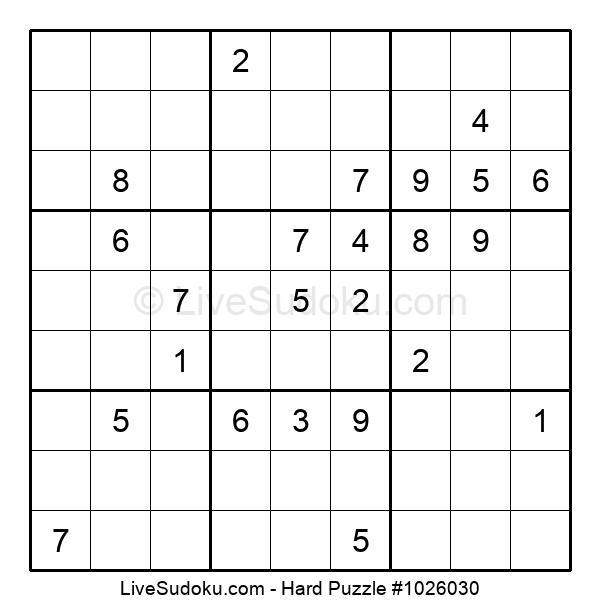 Hard Puzzle #1026030