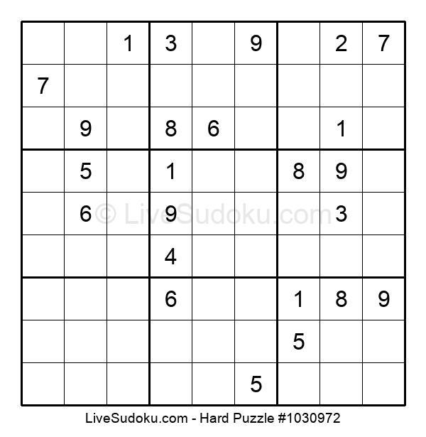 Hard Puzzle #1030972