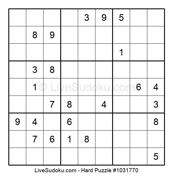 Hard Puzzle #1031770